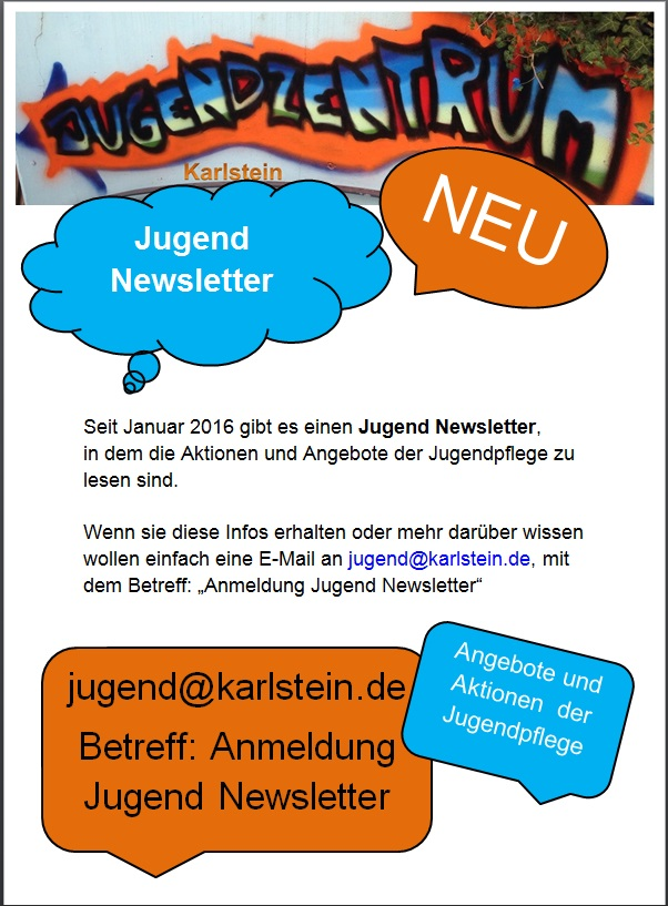 Newsletter der Jugendpflege Homepage