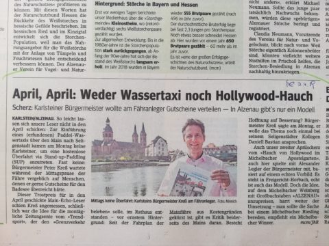 Main-Echo Artikel am 2. April 2019